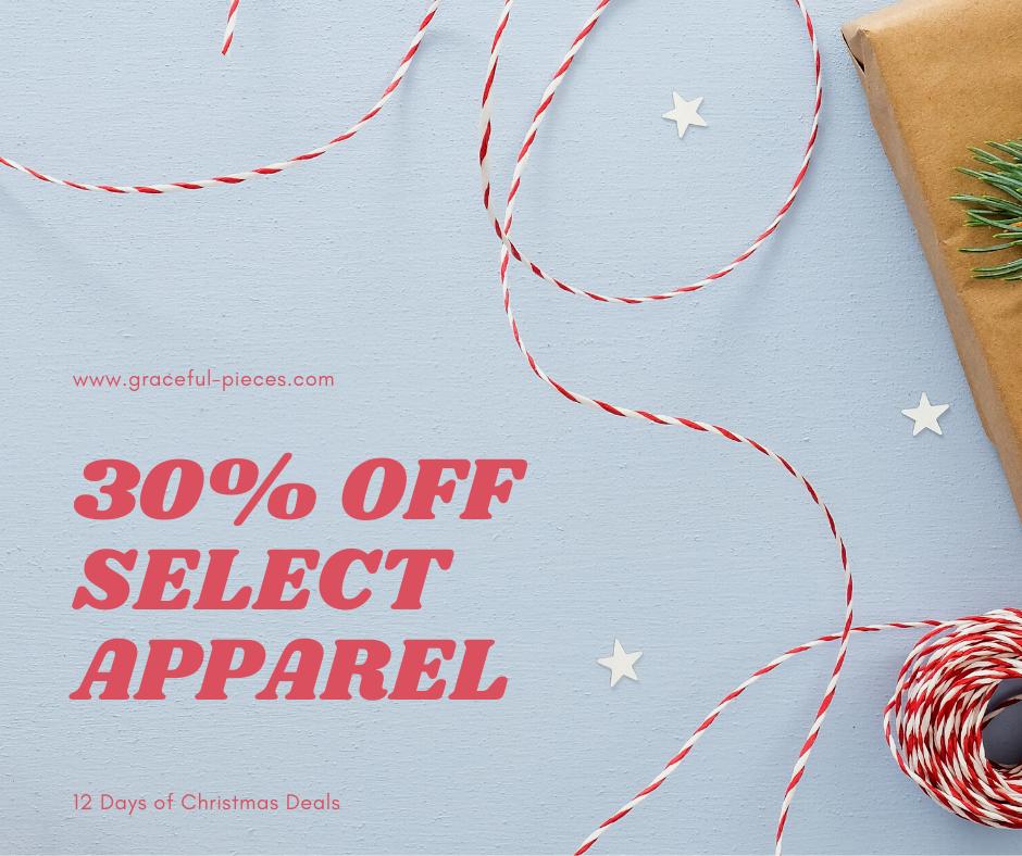 30% off select apparel
